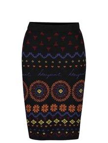Čierna sukňa s farebným vzorom Desigual Roxi