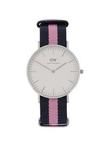 Dámske hodinky v striebornej farbe CLASSIC Winchester Daniel Wellington