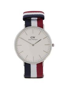 Pánské hodinky ve stříbrné barvě CLASSIC Cambridge Daniel Wellington