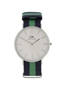 Pánske hodinky v striebornej farbe CLASSIC Warwick Daniel Wellington