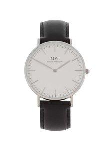 Ceas negru analogic pentru femei - CLASSIC Sheffield Daniel Wellington