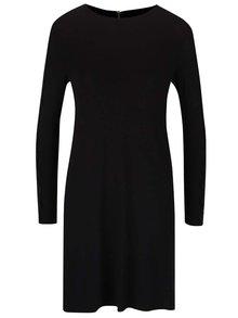 Čierne voľnejšie šaty s čipkovanými detailmi Dorothy Perkins