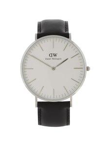 Pánské hodinky ve stříbrné barvě CLASSIC Sheffield Daniel Wellington