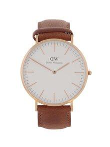 Pánské hodinky ve zlaté barvě CLASSIC Durham Daniel Wellington