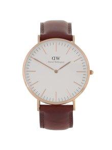 Pánske hodinky v zlatej farbe CLASSIC St. Mawes Daniel Wellington