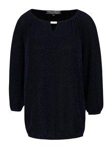 Bluză neagră  Dorothy Perkins cu inserție lurex albastru