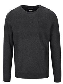 Tmavosivý pánsky sveter s gombíkmi Jack & Jones