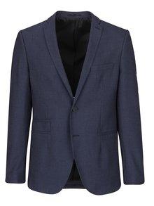 Tmavě modré sako s jemným vzorem Selected Homme Done
