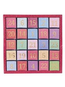 Farebný číselný adventný kalendár z čajov English Tea Shop