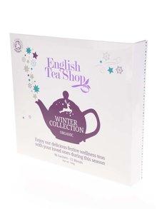 Bílá dárková kazeta čajů English Tea Shop Vánoční zima