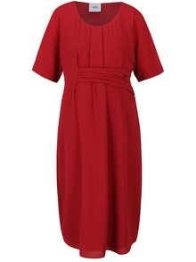 Červené těhotenské šaty s krátkým rukávem Mama.licious Layla