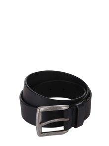 Černý kožený pásek Pieces Nady