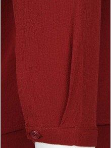 Bluza rosie cu decupaj mic pe decolteu - ONLY Mariana