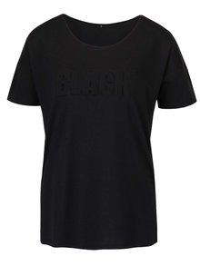 Černé tričko s plastickým nápisem ONLY Alexa