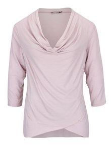 Bluză roz pal cu guler fronsat ZOOT