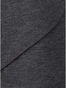 Tmavě šedý žíhaný top s 3/4 rukávem ZOOT