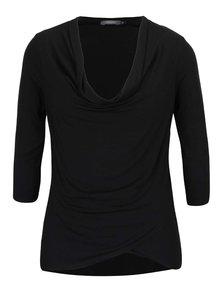Bluză neagră cu guler fronsat ZOOT