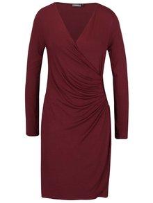 Vínové šaty s prekladaným výstrihom ZOOT