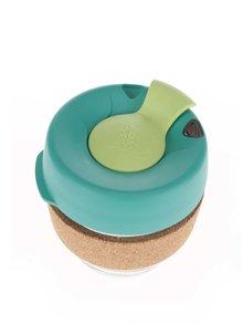 Dizajnový cestovný sklenený hrnček KeepCup Brew Thyme Cork Small