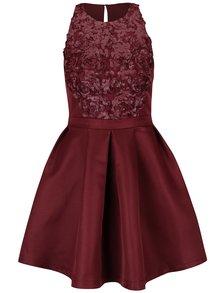 Rochie roșu burgundy Little Mistress cu paiete