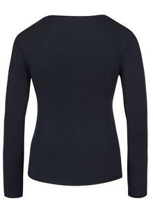 Tmavomodré tričko s okrúhlym výstrihom a dlhým rukávom ZOOT