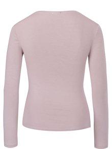 Světle růžové tričko s dlouhým rukávem ZOOT