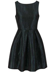 Čiernozelené lesklé šaty VILA Ewa