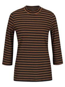Oranžovo-šedé pruhované tričko s 3/4 rukávy VERO MODA Sailor
