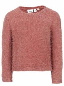 Ružový dievčenský sveter name it Nassi
