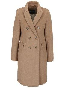 Béžový dámský dvouřadý kabát Broadway Reeve