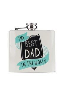 Šedá placatka pro nejlepší tatínky v dárkové krabičce CGB