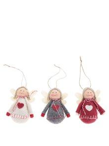 Sada tří vánočních ozdob s andílky CGB
