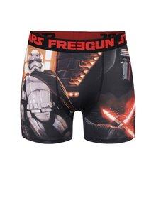 Červeno-čierne boxerky s potlačou Star wars Freegun