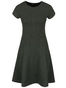 Tmavozelené šaty s jemným vzorom ZOOT