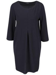 Sivomodré voľnejšie šaty s 3/4 rukávmi ZOOT