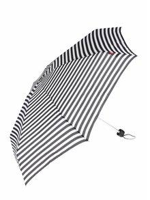 Umbrela alb & negru s.Oliver cu model in dungi