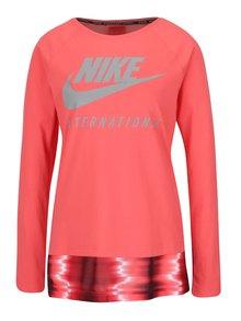 Korálové dámské tričko s dlouhým rukávem Nike International Top