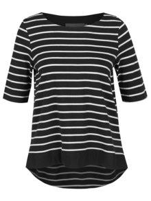 Bluză negru cu alb în dungi VERO MODA Sui