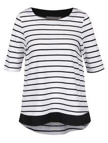 Bluză alb cu negru în dungi VERO MODA Sui