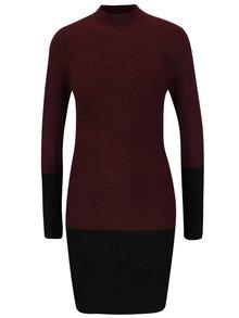 Čierno-vínové svetrové šaty AX Paris