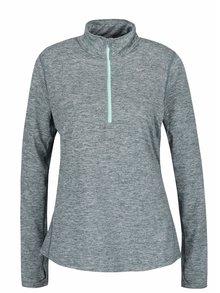 Zelené žíhané dámské tričko s dlouhým rukávem Nike Dry Element