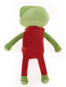 Červeno-zelený plyšák na pás do auta mimozemsťan Something Special