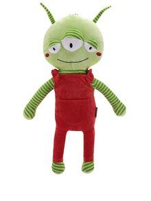 Červeno-zelený plyšový mimozemšťan na pás do auta Something Special