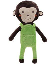 Zeleno-hnedá plyšová opica na pás do auta Something Special