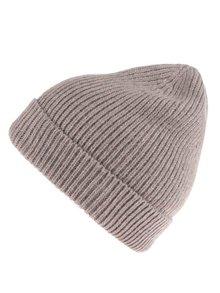 Sivo-hnedá pletená čiapka Pieces Pikki