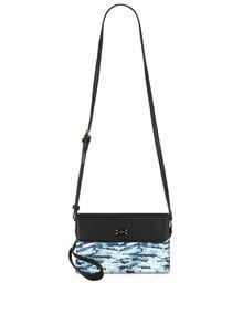 Čierna crossbody kabelka s modrým vzorom Paul's Boutique Veronica
