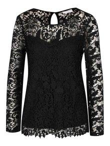 Bluză neagră VILA Prissy din dantelă
