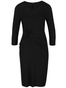 Černé šaty s nařasením a 3/4 rukávem ONLY Toa