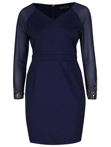 Rochie albastru închis cu mâneci transparente Dorothy Perkins Curve