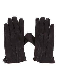 Hnědé kožené rukavice Jack & Jones Premium Max